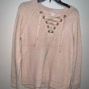 Light pink chunky sweater